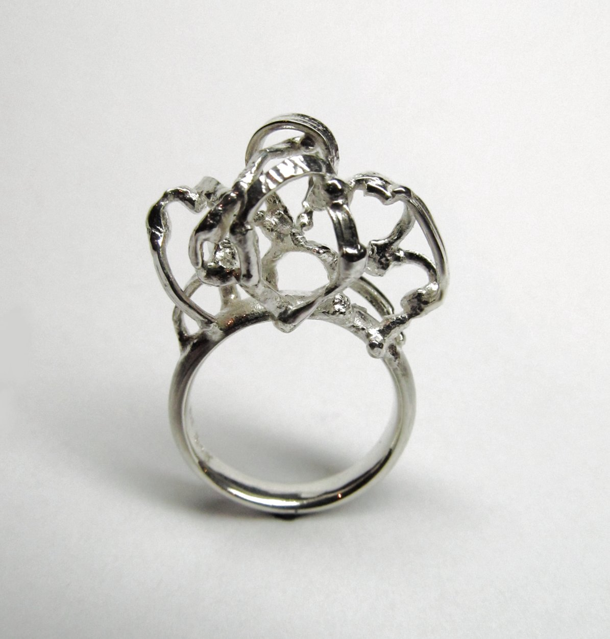 Ring 'Boogjes' <br> zilver