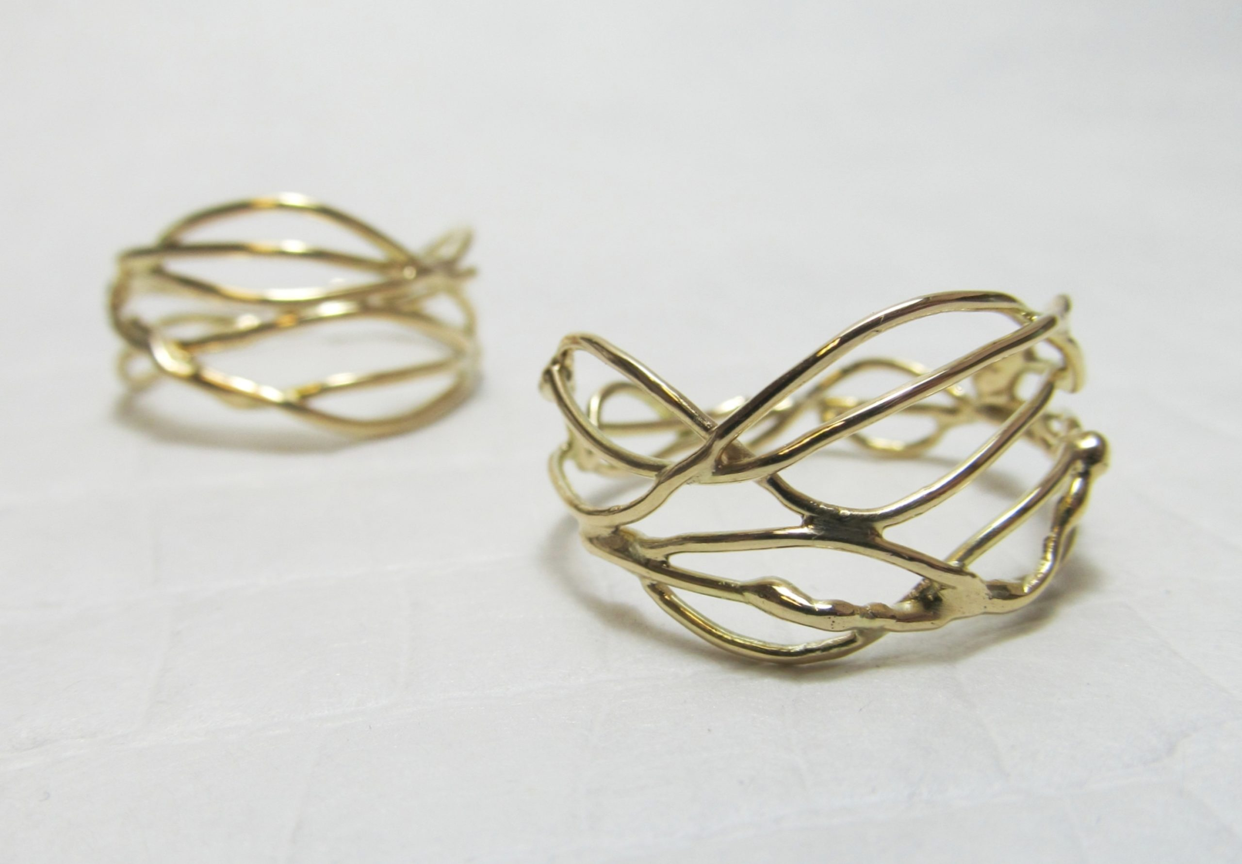 'Tangled' ringen <br> 14k geelgoud